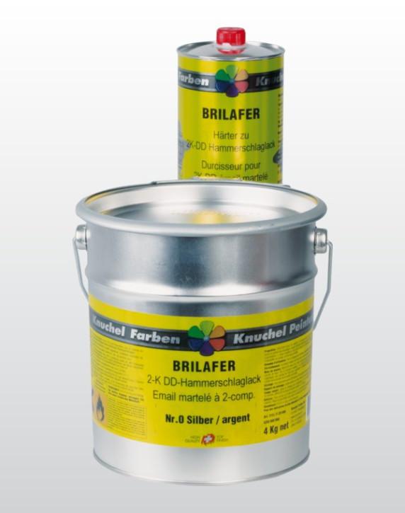 BRILAFER 2K-DD Hammerschlaglack Komp.A Nr.0 silber