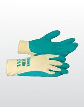 Textilhandschuh Naturlatex grün