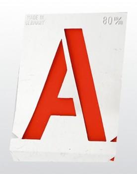 Signierschablonen Buchstaben