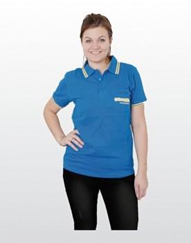 COLORAMA Polo-Shirt kurzarm blau