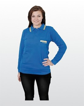 COLORAMA Polo-Shirt langarm blau